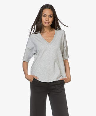 Rag & Bone Phoenix V-hals T-shirt - Heather Grey