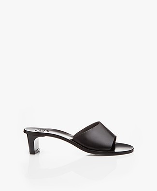 ATP Atelier Peonia Vachetta Leather Mules - Black