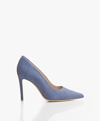 Feraggio Suede Pumps - Denim Dash