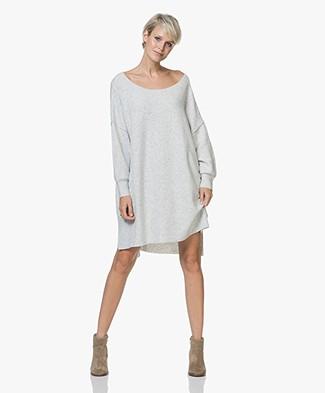 American Vintage Damsville Knitted Sweater Dress - Grey Melange