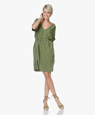 American Vintage Nalastate Oversized Lyocell Dress - Peas