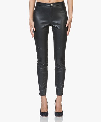 BOSS Saby Faux-leather Pants - Open Blue