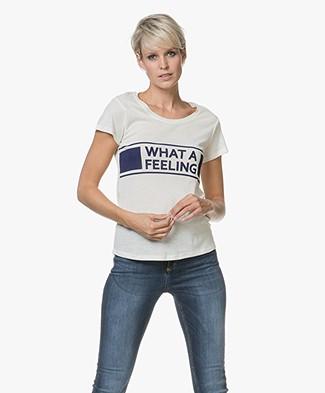 Ba&sh Orlo Statement Print T-shirt - Off-white