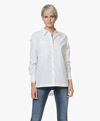 Ba&sh Conti Poplin Blouse - White