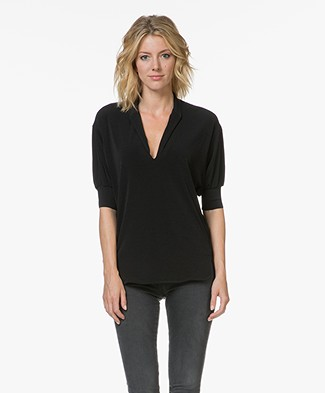 By Malene Birger Billum Crêpe Blouse - Zwart