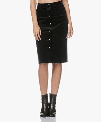 Filippa K Corduroy Skirt - Onyx