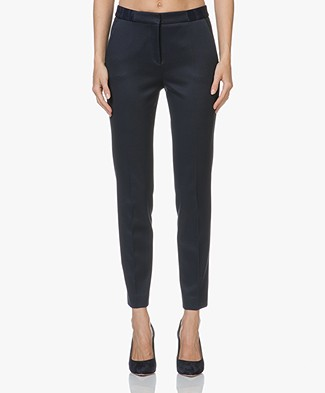 HUGO Hefena Cropped Pants - Open Blue