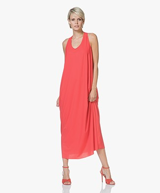 JapanTKY Turo Jersey Maxi Dress with Knotted Detail - Red