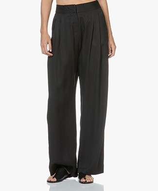 Magali Pascal Joey Tencel Wide Leg Pants - Black