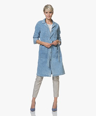 Rag & Bone Flasher Knee-length Denim Jacket - Crystal Wash