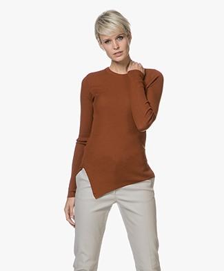 Vanessa Bruno Jaime Fine Knit Pullover - Brick