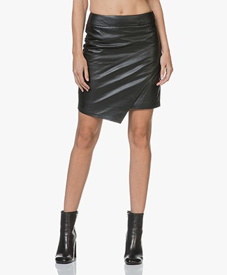 Zadig & Voltaire Just Cuir Lisse Leather Pencil Skirt - Black