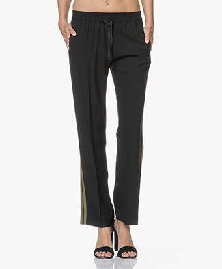 Zadig & Voltaire Poeme Pants with Side Stripes - Black