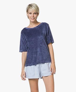 American Vintage Ponpon Velvet T-shirt - Satellite