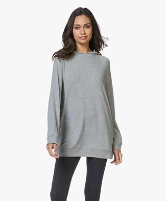 American Vintage Vetington Long Hooded Sweater - Grey Melange
