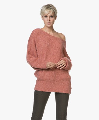 American Vintage Woxilen Oversized Sweater - Grapefruit Melange