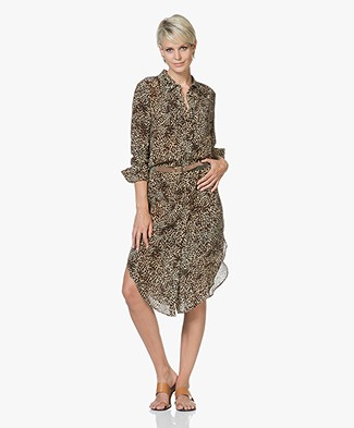 ANINE BING Chelsea Shirt Dress with Print - Leopard
