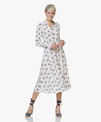 Ba&sh Flore Viscose Bloemenjurk - Off-white