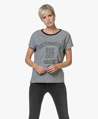 ba&sh Thale University T-shirt in Cotton - Grey