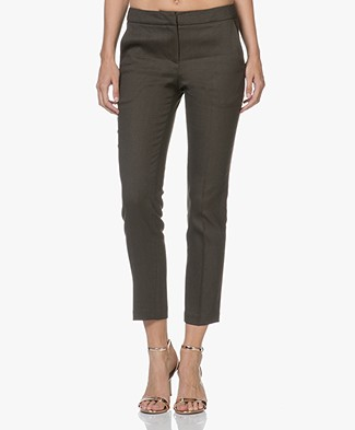 Ba&sh Tonic Cropped Pants - Khaki Brown
