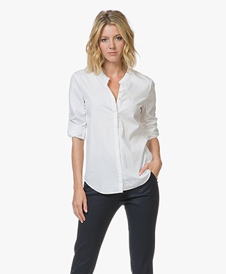 BOSS Efelize Chambray Blouse - Wit