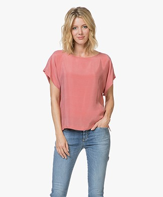 Drykorn Somia Cupro Blouse - Pink