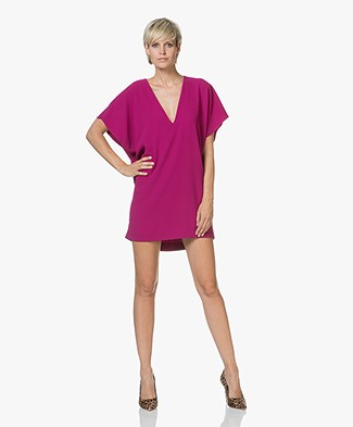 IRO Recording Crepe Tunic Dress - Violet