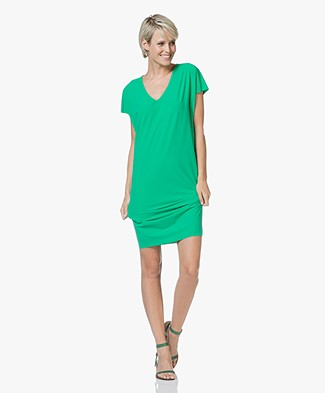 JapanTKY Isas Dress in Italian Jersey - Summer Green
