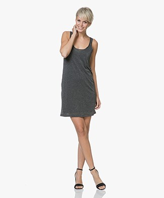 Rag & Bone Dawson Jersey Tank Dress with Lurex - Black