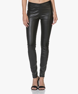 Zadig & Voltaire Pharel Leather Slim-fit Pants - Black