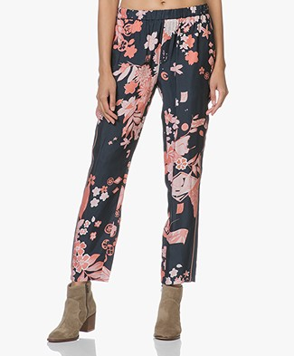 Closed Blanch Floral Pants - Dark Night