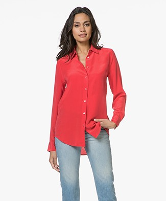 Equipment Essential Silk Blouse - Ribbon Red