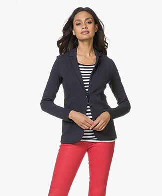 Majestic Filatures Blazer in Fleece Jersey - Marine