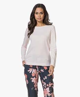 Majestic Filatures Long Sleeve T-shirt in Cotton and Cashmere - Petale