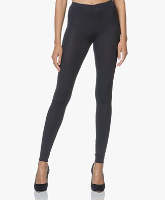 Majestic Soft Touch Jersey Leggings - Marine