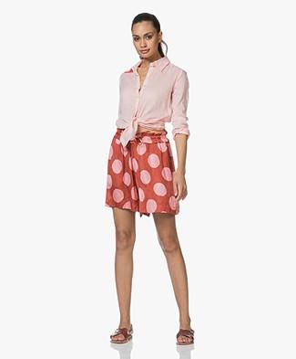 Sluiz. Ibiza Knot Shirt in Cotton - Baby Pink