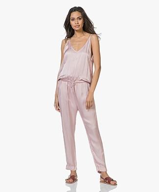 SLUIZ. Ibiza Mono Jumpsuit in Viscose and Silk - Old Pink