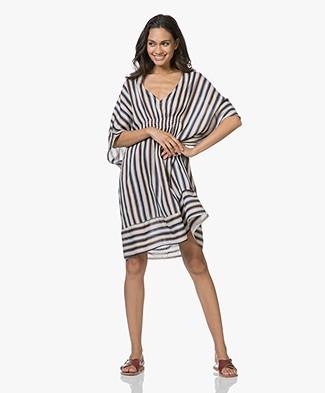 SLUIZ. Ibiza Stripes Kaftan Dress in Viscose - Multicolored