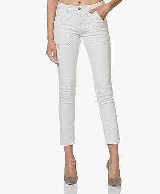 ba&sh Sally Girlfriend Jeans - Chalk