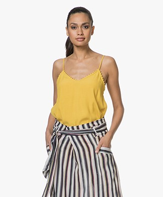 Ba&sh Fox Viscose-crepe Top - Yellow