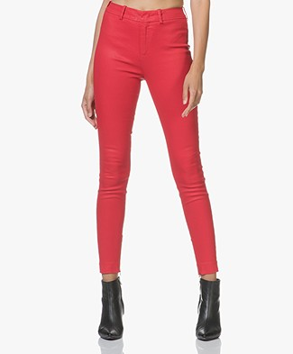 Drykorn Winch Stretchy Slim-Fit Trousers - Red