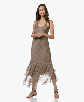 Mes Demoiselles Sharon Maxi Ruffle Dress - Ocre