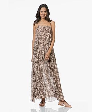 SLUIZ. Ibiza Bautiful Maxi-dress with Print - Leopard