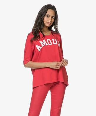 Zadig & Voltaire Portland Print T-shirt - Rouge Red