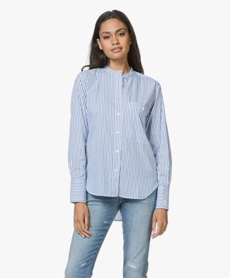 Closed Rowan Gestreepte Poplin Blouse - Cornflower