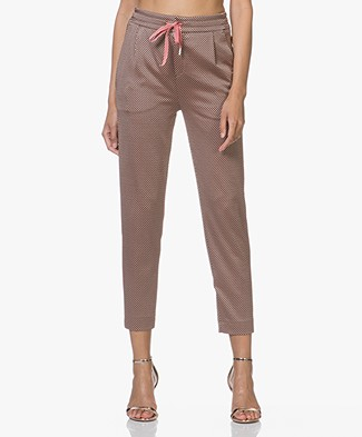 Drykorn Level Jacquard Cropped Broek - Oudroze