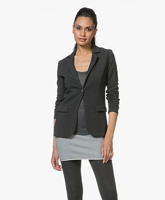 Majestic Blazer in Fleece Jersey - Antraciet Mêlee