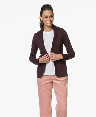 Majestic Blazer in Fleece Jersey - Aubergine