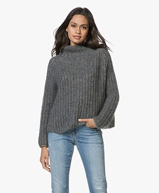 Pomandère Knitted Pullover with Lurex - Dark Grey