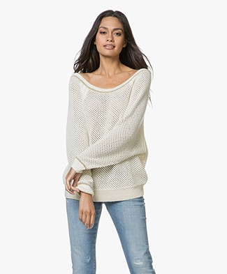 Ba&sh Hera Lattice Sweater - Ecru